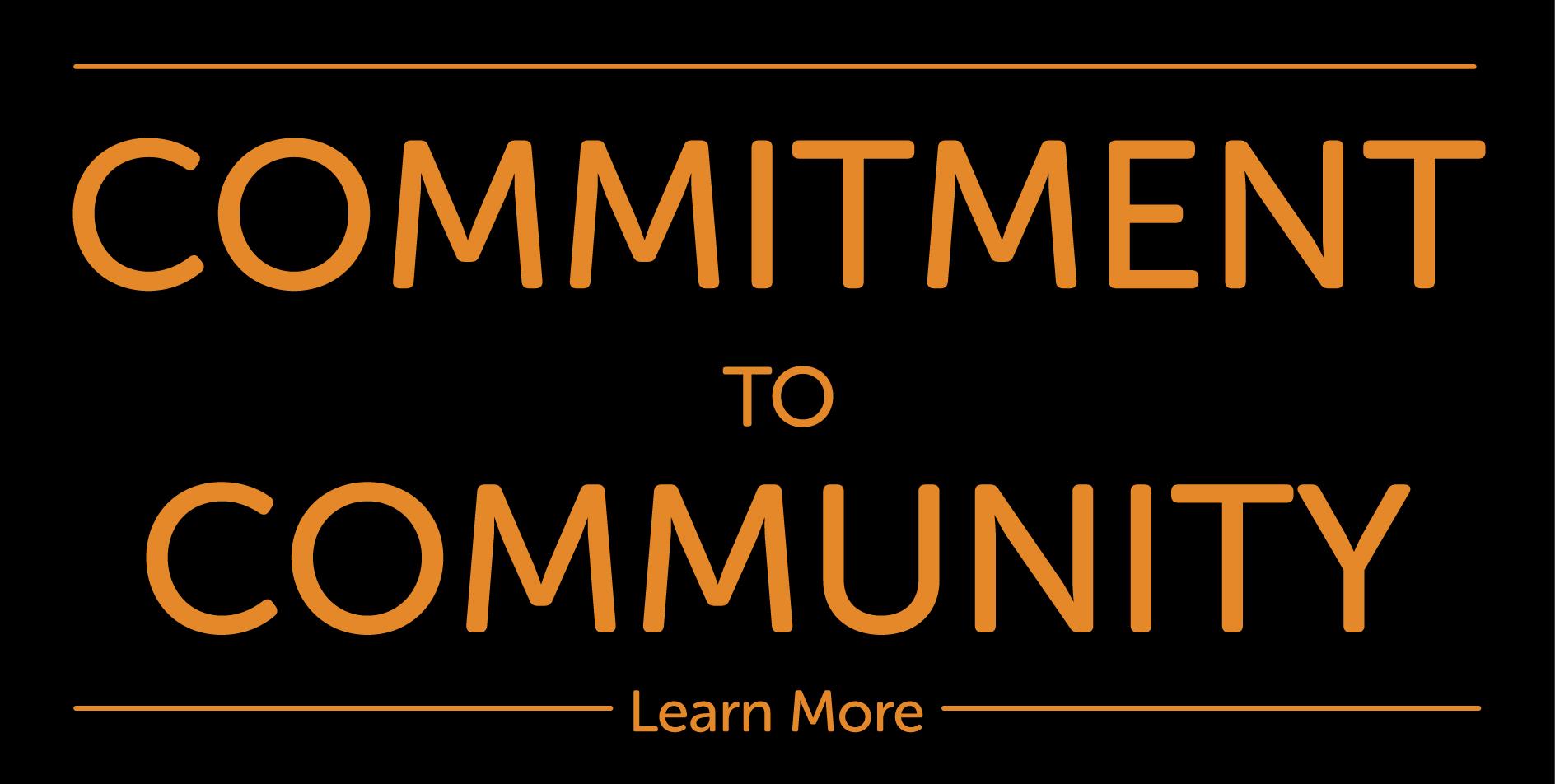 commitment to community overlay - orange