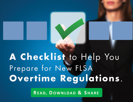 U.S. Department of Labor Overtime Rule Regulations Checklist