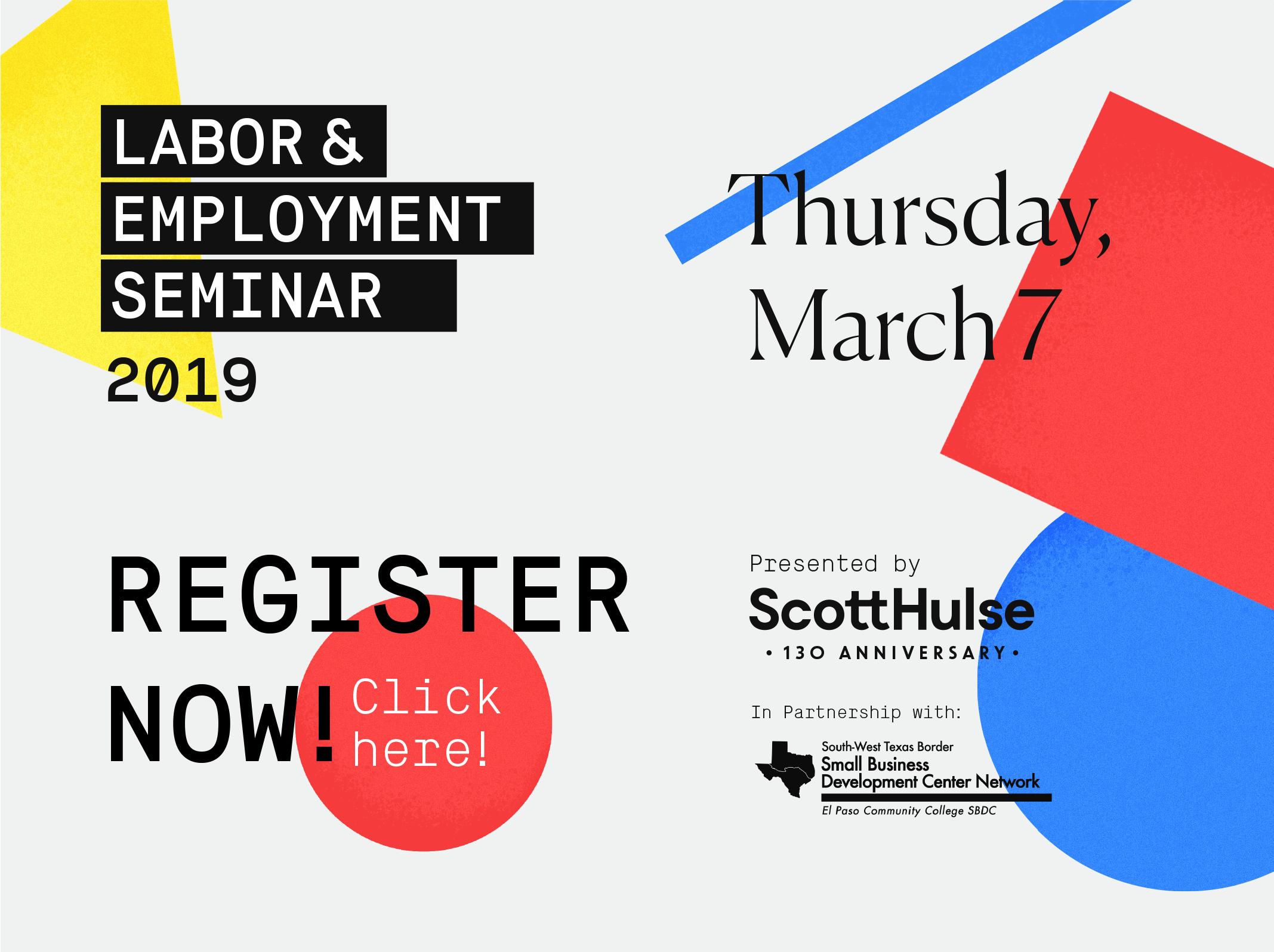 2019 Labor & Employment Seminar
