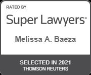 Melissa Baeza 2021 Super Lawyer badge